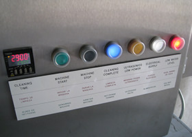 UPI Sonic Wash™ Total System electrical enclosure and control panel